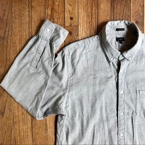 J. Crew Black Label Lightweight Gray Flannel Shirt